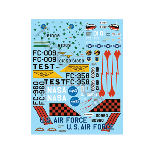 fündekals 1/48 F-102 Delta Dagger Part 1 Decal Set