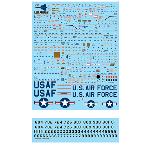 fündekals 1/48 F-106 Delta Dart Part 2 Decal Set