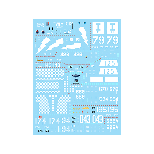 fündekals 1/48 F4U Corsair Part 2 Decal Set
