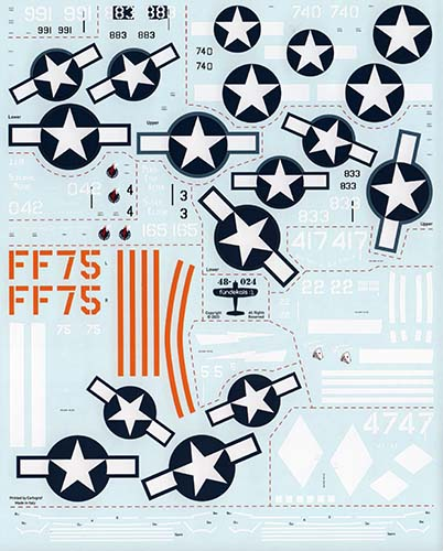 fündekals 1/48 Corsairs USMC Decal Set